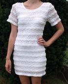 čipkované šaty biele, S