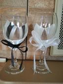 Připítkové svatební skleničky ,