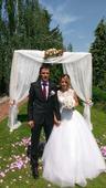 Svatební šaty - velmi slušivé, 38