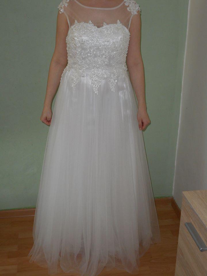 Svatební šaty -velmi slušivé - Obrázek č. 3