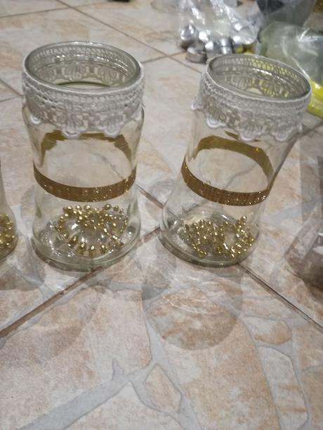 Svícny zlato-bílé - Obrázek č. 1