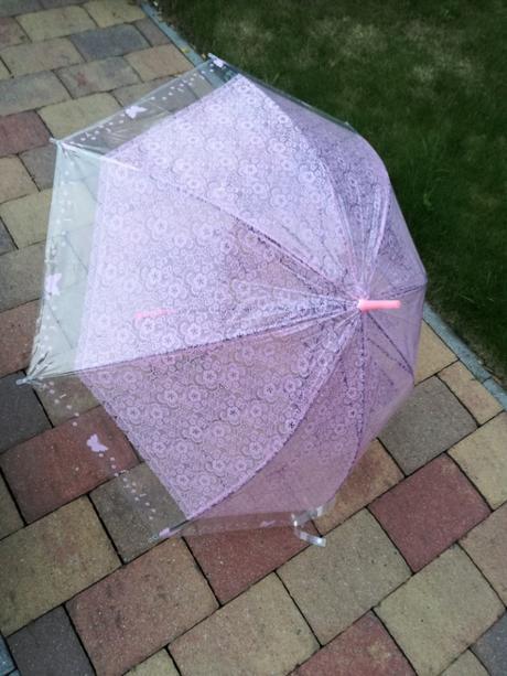 Deštník růžový krajkový - Obrázek č. 1