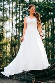 Smetanově bílé šaty. Vel 38 - 42, 38