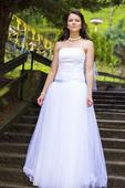Lehoučké svatební šaty - SLEVA, 38