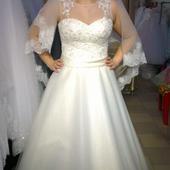 Svadobné šaty+závoj+bolerko, 42