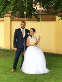 Svatební šaty s tylovou sukní 38, 38