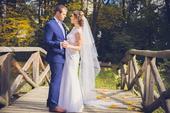 Svadobné šaty + závoj s hrebienkom, 37