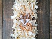 Dřevěná brož - Dear wof,