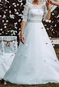 Svatební šaty Elody s krajkou, model 973, vel., 34