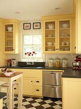 kuchyna bude syto zlta! no v takomto provensalskom style, a CB dlazba! :-)