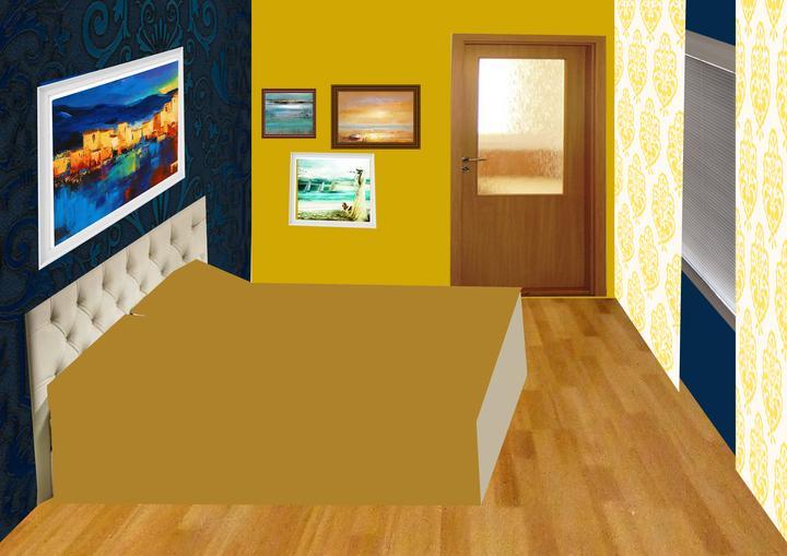 Spálňa bude - hnedá, biela, a trochu lososovej - PRVOTNY NAPAD - TOTO NEBUDE!  Koláž úpravy - alebo sa 2.stena natrie na horcicovo...