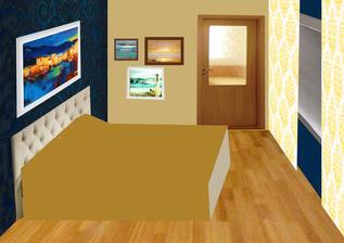 PRVOTNY NAPAD - TOTO NEBUDE! Koláž - béžová stena. spálňa bude na inom mieste než sme pôvodne plánovali a podľa feng-shuej by tam mali byť iné farby, preto uvažujeme nad ďalšími alternatívami....