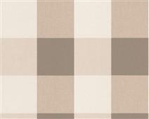 Spálňa bude - hnedá, biela, a trochu lososovej - kockovaná tapeta - detail