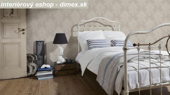 Spálňa bude - hnedá, biela, a trochu lososovej - pekný priestor s touto tapetou ornamentálnou.....