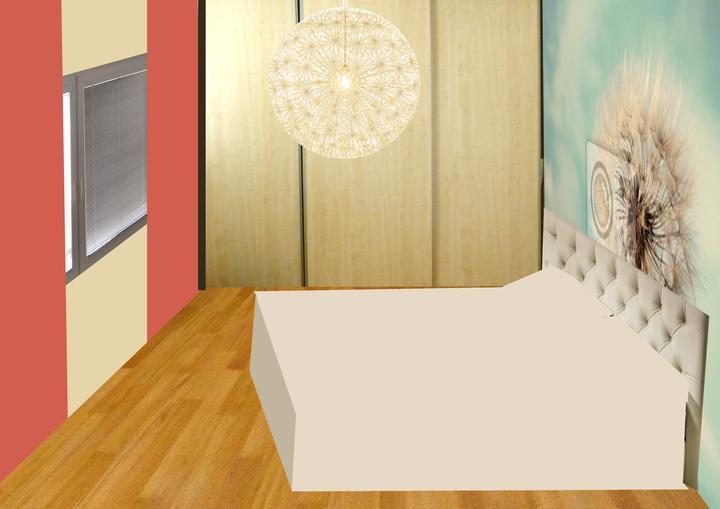 Spálňa bude - hnedá, biela, a trochu lososovej - BOHUZIAL TOTO SA NEPACILO MAJITELOVI - TOTO NEBUDE!