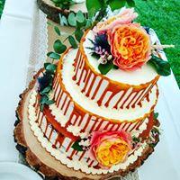 Svatební dort polonahý drip cake - Obrázek č. 1