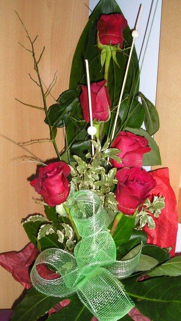 Náš deň 5.september 2009 - kytica,ktorú som dostala na zásnuby od môjho miláčika