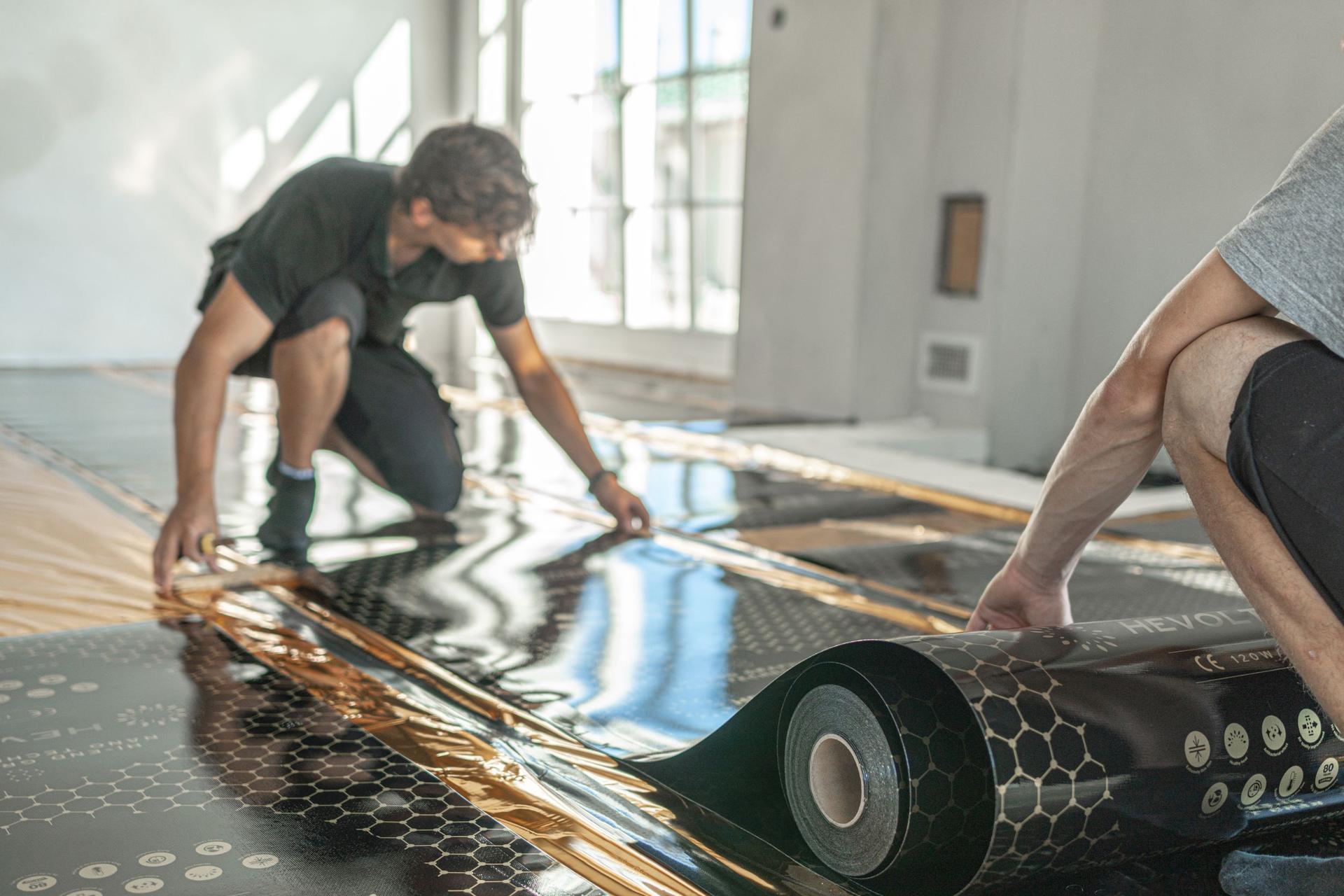 HEVOLTA - Inštalácia infračerveného podlahového kúrenia NanoCloth - Inštalácia NanoCloth