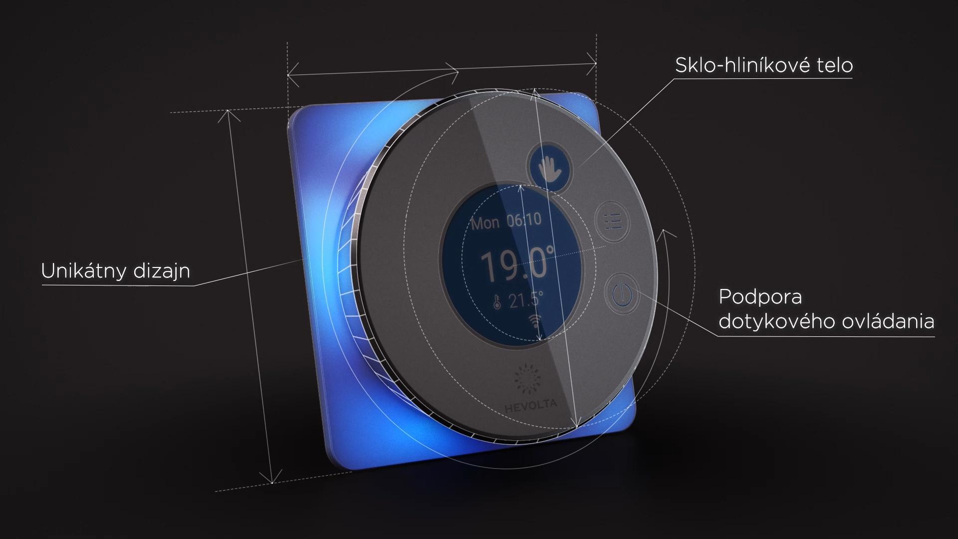 Mind - Smart termostat - Či už investujete do nového bývania alebo rekonštruujete staré, inteligentný termostat Mind sa svojím unikátnym dizajnom prispôsobí akémukoľvek priestoru.