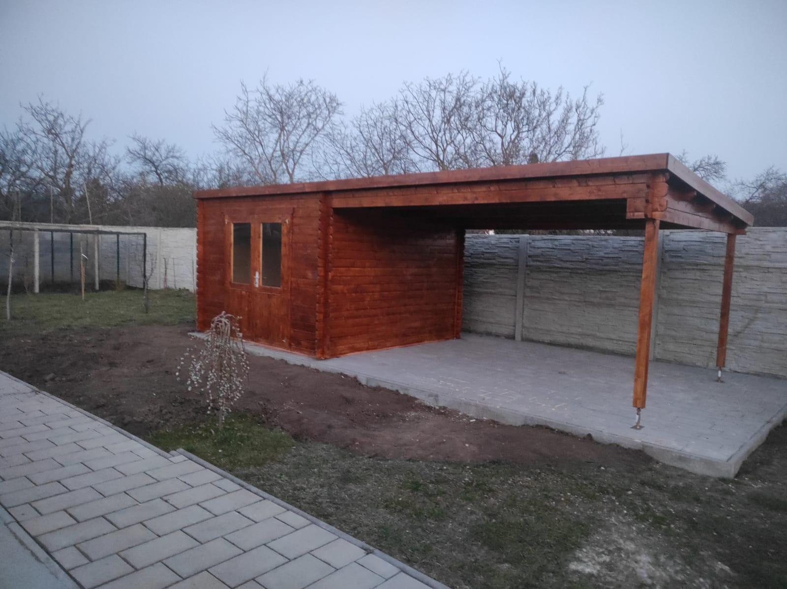 Záhradný domček ST.Louis. Jednoduché a praktické riešenie. prevedenie 28mm. Nájdete na stránke: https://www.drevo-domy.eu/ - Obrázok č. 1