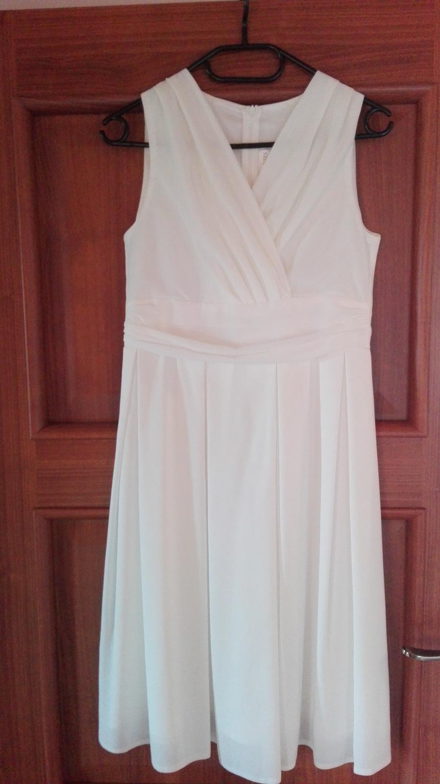 Biele spoločenské šaty, veľ. M - Obrázok č. 1