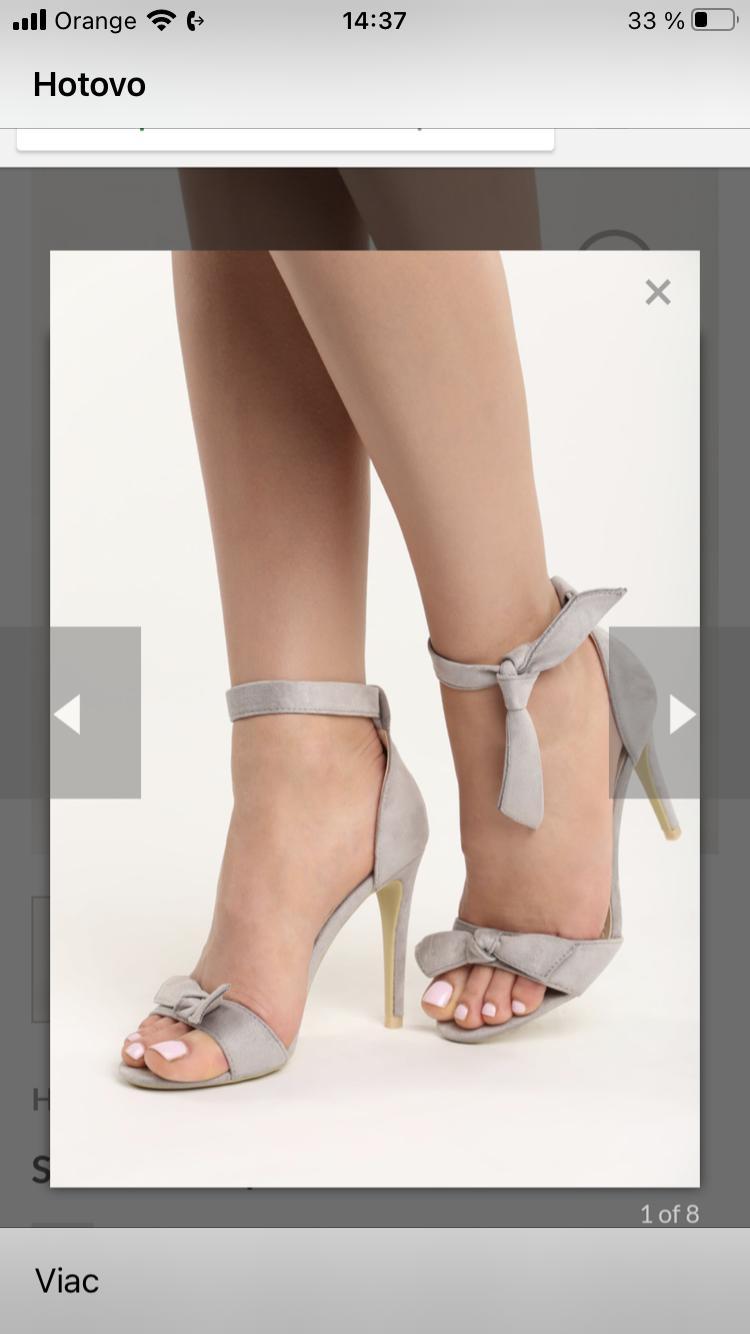 Sandale na podpätku - Obrázok č. 1