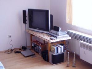 prechodne bydlisko televizora a pridavnych zariadeni v spalni