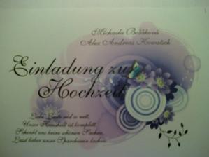 Pozvanka na svadbu - nemecka vzorka