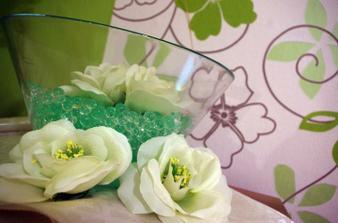 vodní perly a naše krásná tapeta :-)