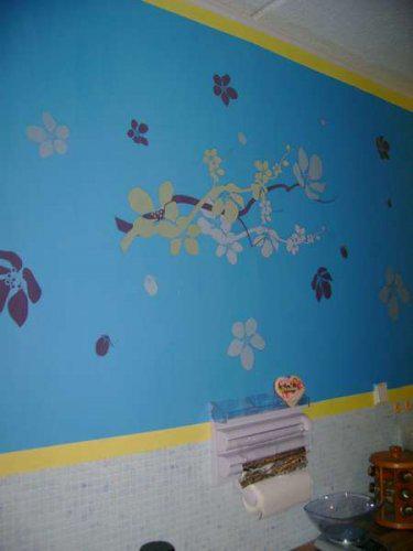Náš malý byteček - už je to uděláno už je to hotovo :-) - náš výtvor stěna kuchyně