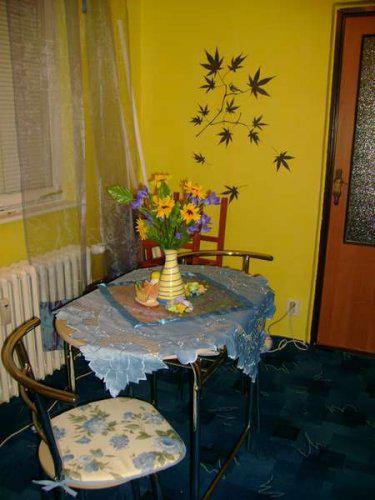 Náš malý byteček - už je to uděláno už je to hotovo :-) - stoleček je prozatimní, potom pořídíme něco většího
