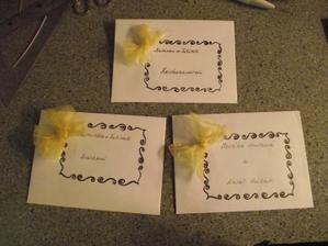 obálky na oznámení moje práce