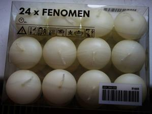 koupeny krémové plovoucí  svíčky