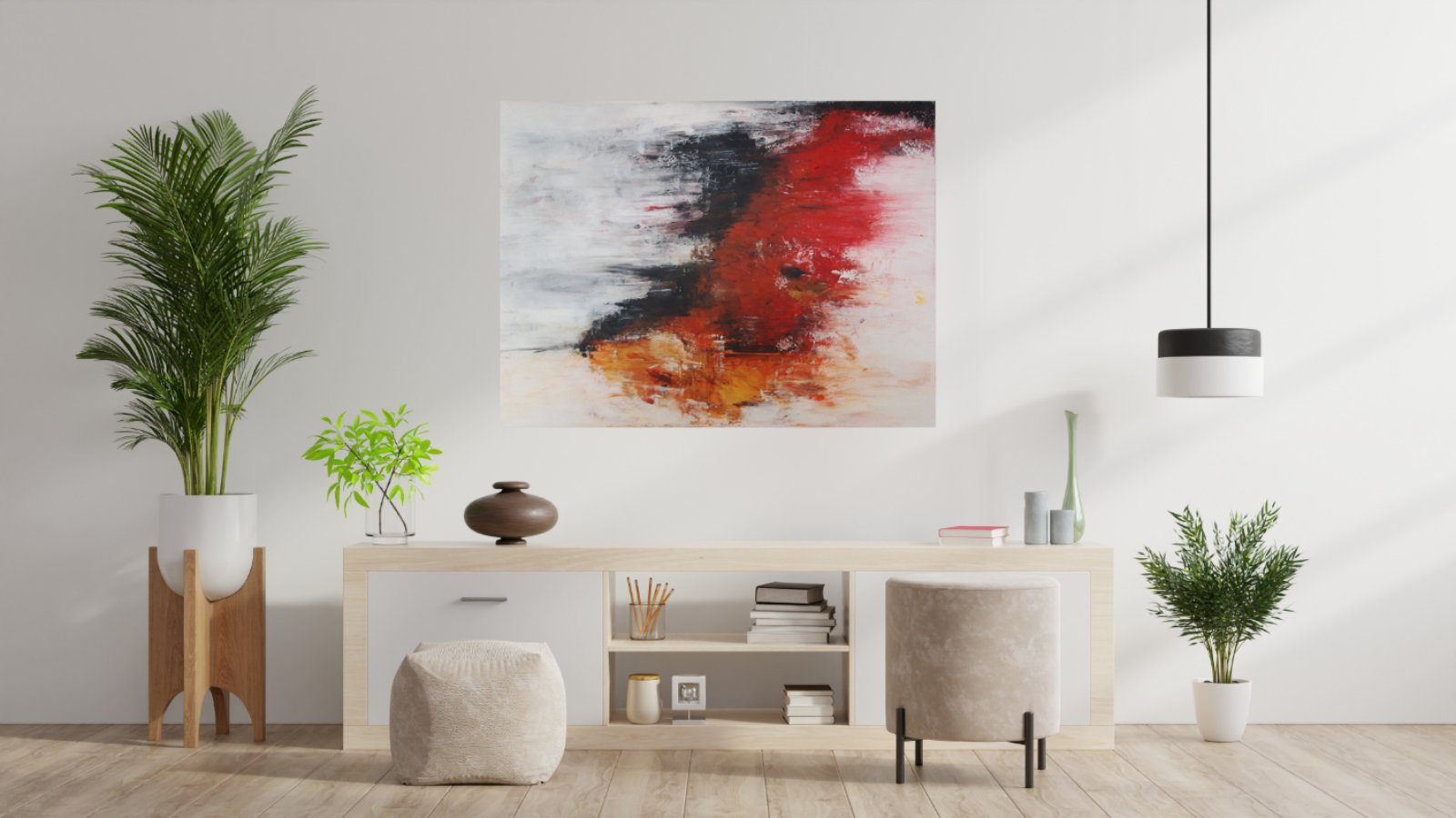 Obraz abstraktny NOVY malovany akrylom - Obrázok č. 4
