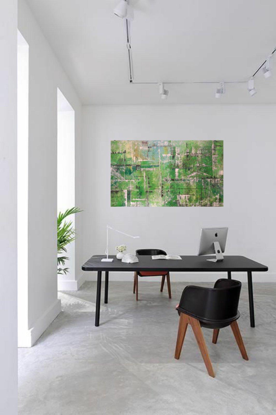 Obraz abstraktny NOVY malovany akrylom - Obrázok č. 1