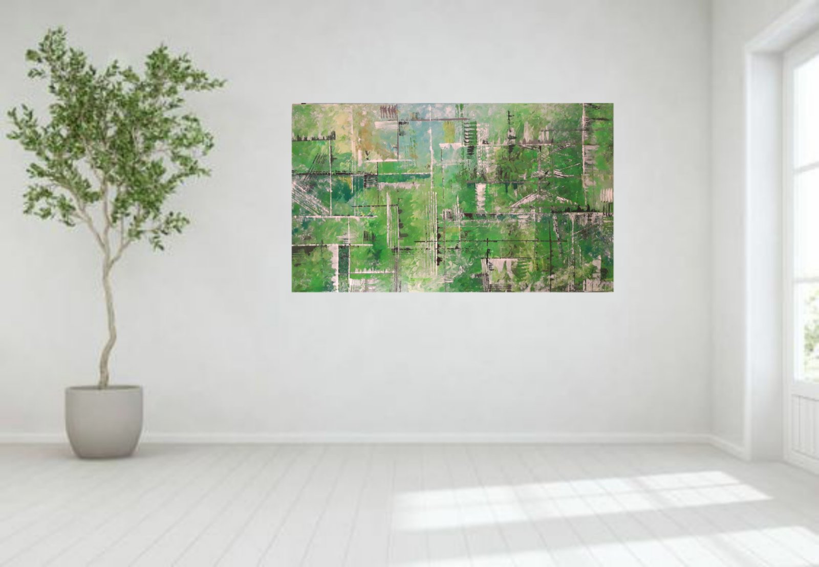 Obraz abstraktny NOVY malovany akrylom - Obrázok č. 2