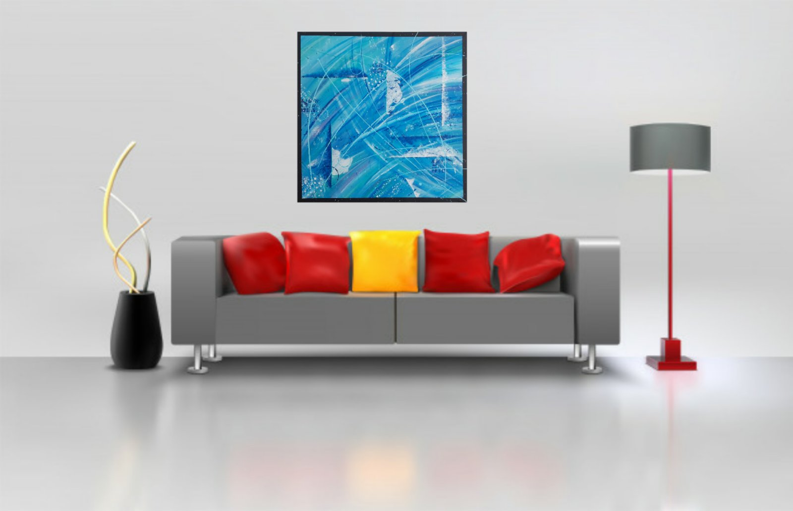 Obraz abstraktny NOVY malovany akrylom - Obrázok č. 3