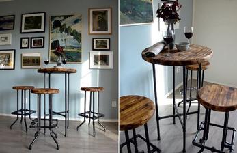 stoleček se unás nezdrží, třeba se objeví někde v kavárně..náš obývák posloužil jen k focení