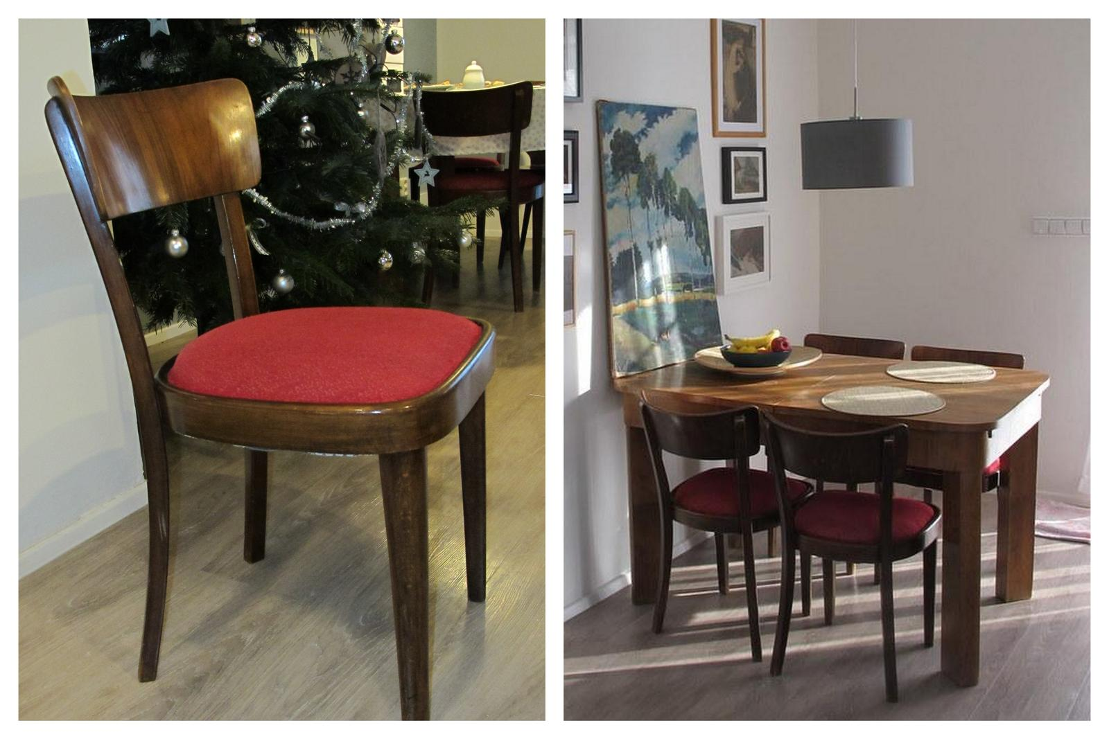 Staré věci v novém kabátě - Konečne jsme se dostala k přečalounění starých židlí -původní stav.