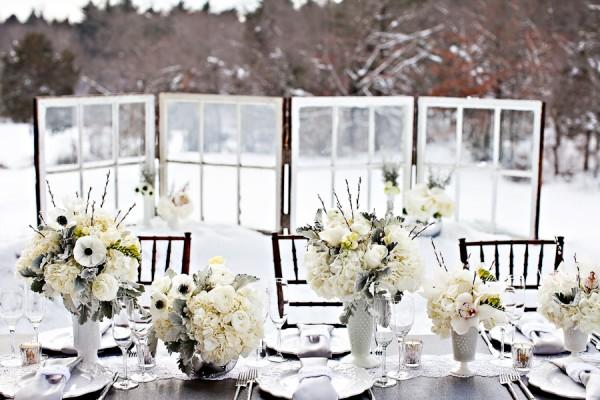 Winter Wedding ideas - White winter wedding theme