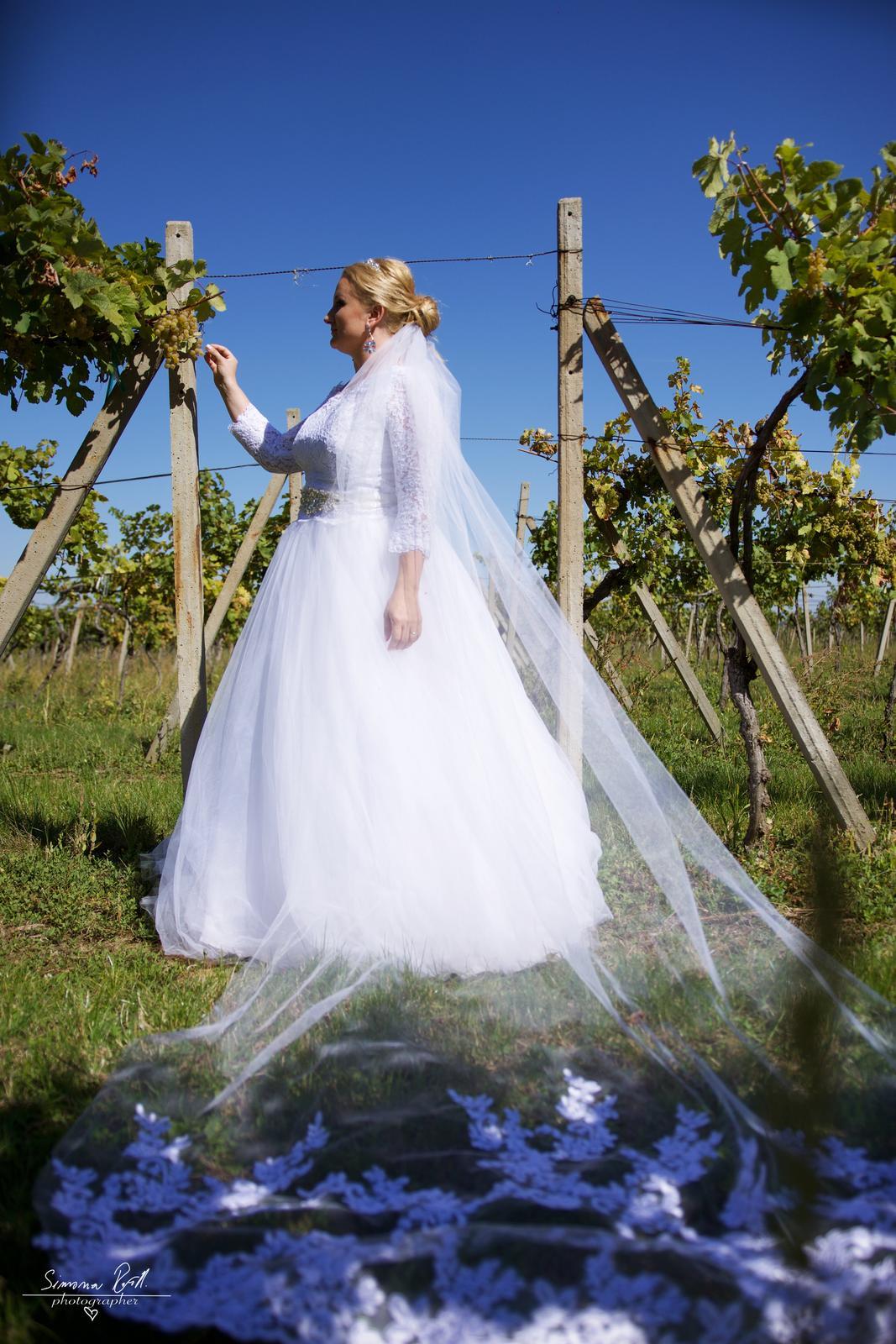 Svadobné šaty - komplet - Obrázok č. 1