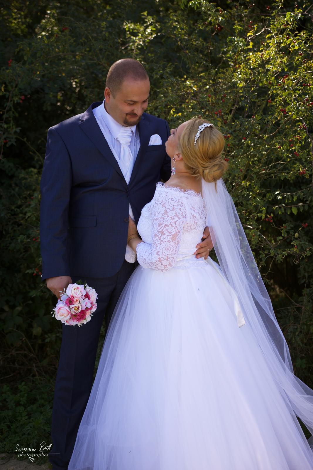 Svadobné šaty - komplet - Obrázok č. 2