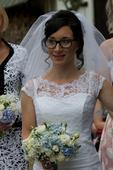 Svatební šaty pro menší nevěstu, vel. 34-36, 36
