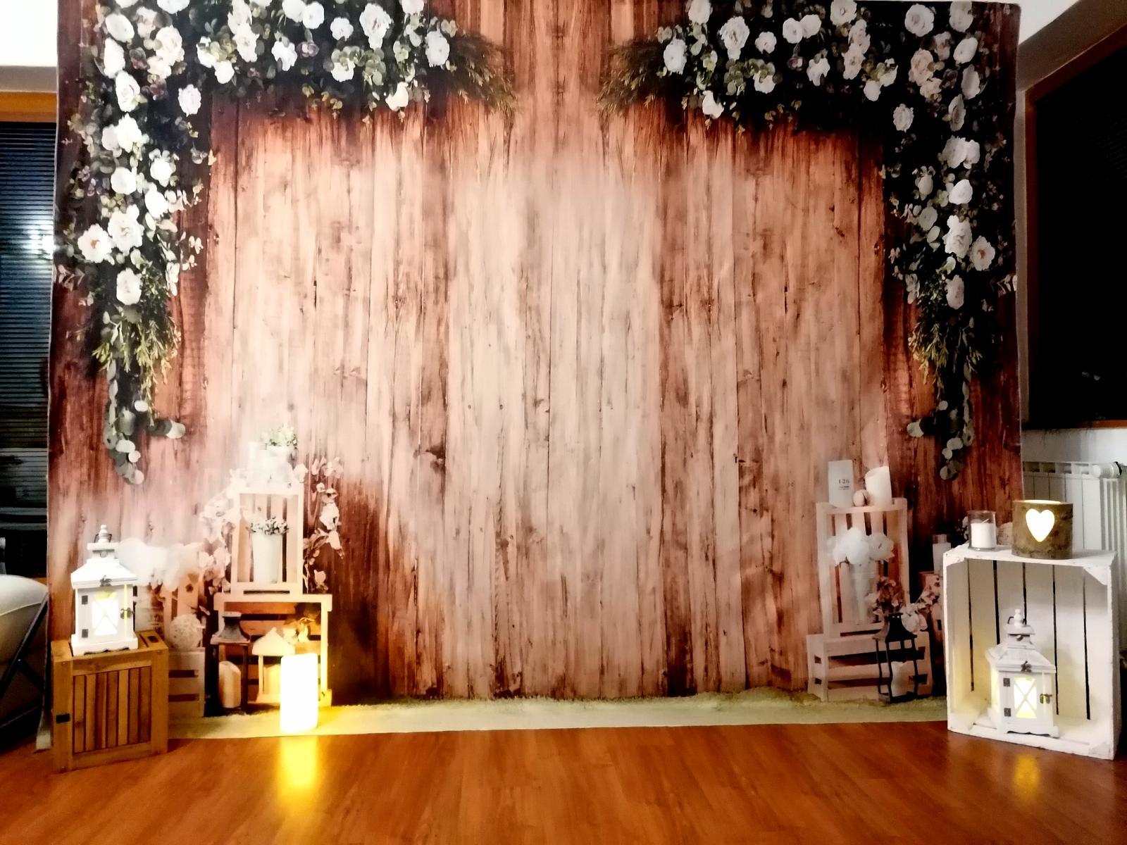 Novinka svadobna FOTO stena Rustical na prenajom - Obrázok č. 1