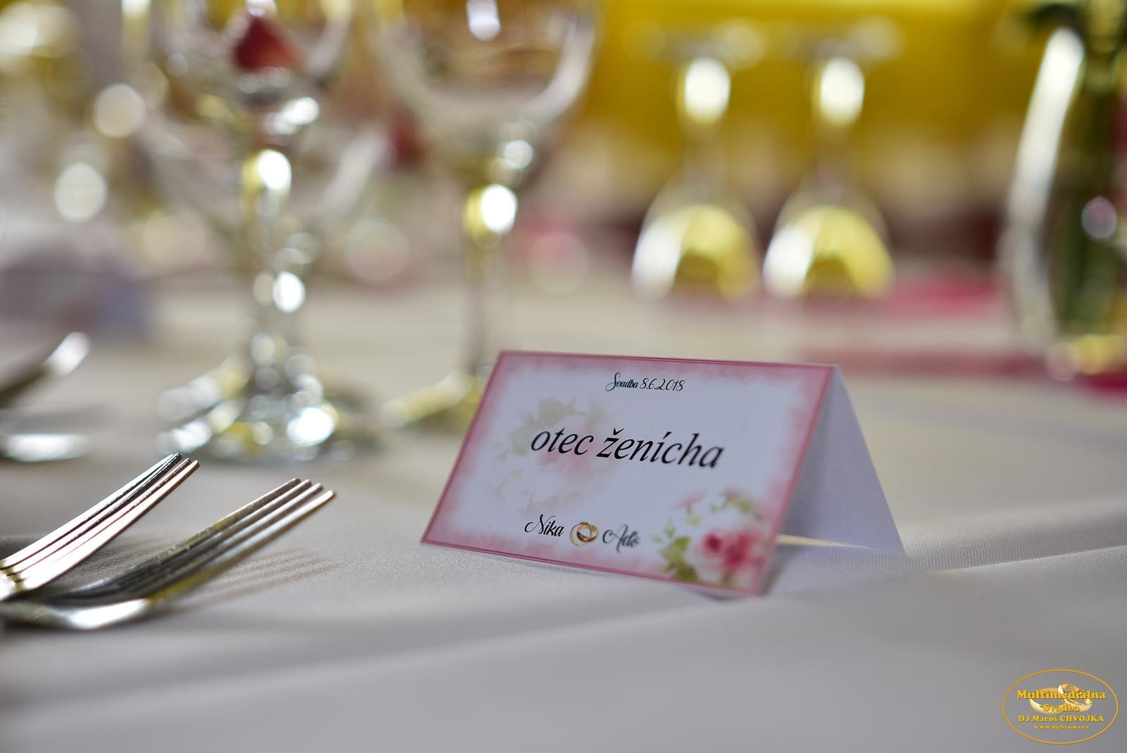 Detaily pre Vaš svadobny deň - svadobne tlačoviny, menovky, zasadaci poriadok od DJ Maroš Chvojka