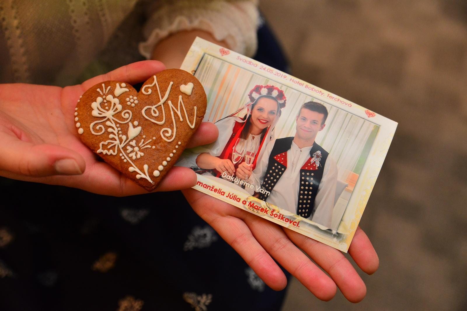 Detaily pre Vaš svadobny deň - svadobne podakovanie ako darček pre hosti od DJ Maroš Chvojka