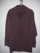 Košeľa s bielymi a červenými pásikmi, 40