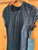Krajkové čierne spoločenské šaty, S