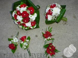 svatební kytka pro mně a po svědkyni :-)
