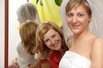 hotovo, huráá .....Léňa si přípravu natrénovala na vlastní svatbu s Davidem, která bude v červnu